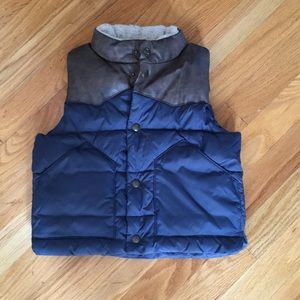Baby Gap Navy and Brown Vest